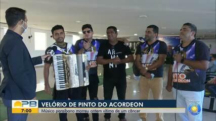 Velório de Pinto do Acordeon é marcado por forró e homenagens dos filhos, em João Pessoa