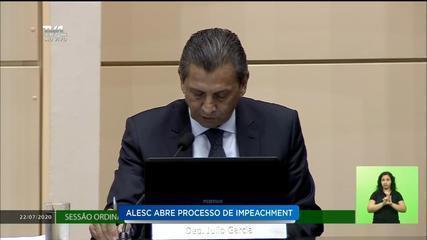 Alesc decide abrir processo de impeachment contra o governador de SC