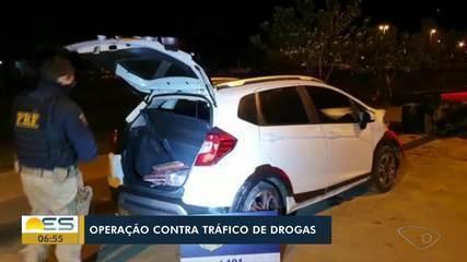 Homem é preso com carro roubado e drogas na BR-262, em Ibatiba, no ES