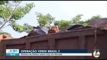 Ministro da Defesa visita Marabá para acompanhar ações da Operação Verde Brasil II