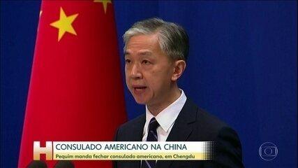 Pequim anuncia que ordenou fechamento do consulado americano em Chengdu