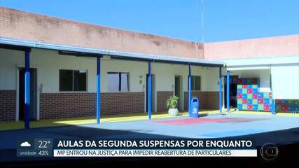 Justiça suspendeu a volta às aulas nas escolas particulares na segunda (27)