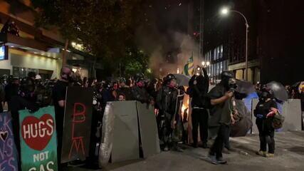 Manifestantes protestam contra o racismo nos EUA