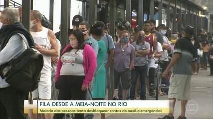 Agências da Caixa do Rio registram mais filas nesta segunda-feira (27)