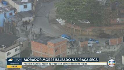 Porta-voz da PM fala sobre operação na Praça Seca