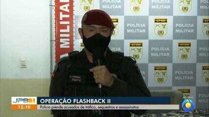 Operação prende suspeitos de assassinatos, sequestros e tráficos na PB