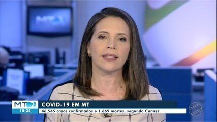 Mato Grosso tem 46.545 casos e 1.669 mortes por Covid, segundo Conass