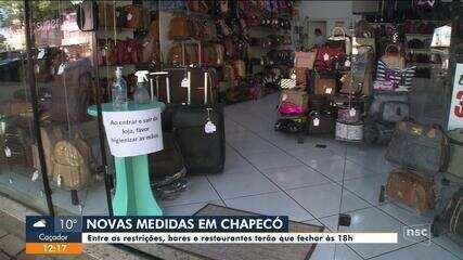 Chapecó tem restrições para horários de funcionamento de bares e restaurantes