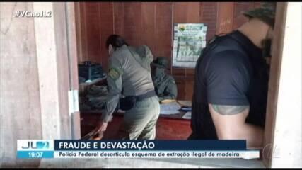 PF desarticula esquema de extração ilegal de madeira na região da rod. Transamazônica