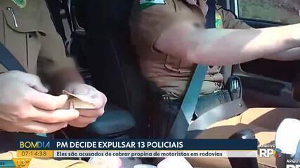 Polícia Militar expulsa 13 policiais