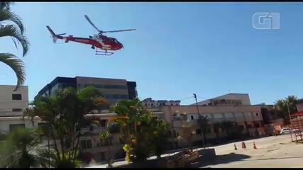 Vídeo mostra momento que helicóptero do Corpo de Bombeiros cai no DF
