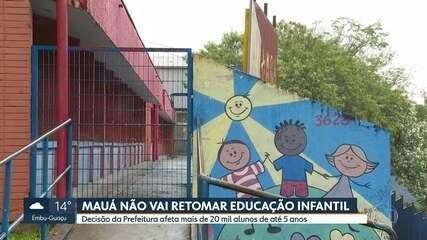 Aulas na educação infantil de Mauá só voltam em 2021