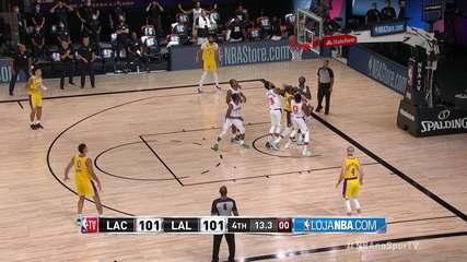 Melhores momentos: Los Angeles Lakers 103 x 101 Los Angeles Clippers, pela NBA
