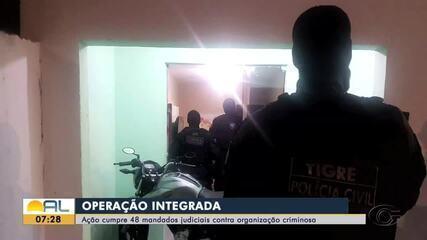 Operação policial cumpre 48 mandados em Alagoas e Pernambuco