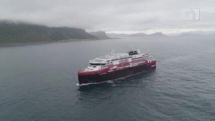 Primeiro cruzeiro a retomar viagens turísticas na Noruega registra surto de Covid-19