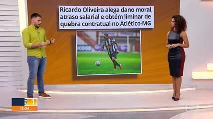 Ricardo Oliveira consegue quebra de contrato com o Atlético-MG na Justiça