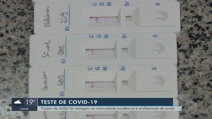 Universidade faz testes na comunidade acadêmica e profissionais da saúde em Alfenas