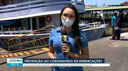 Prevenção ao novo coronavírus em embarcações do AM é desafio