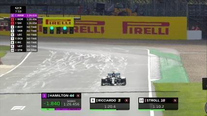 Lewis Hamilton supera Bottas no início do Q3