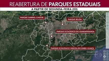Mais quatro parques estaduais vão reabrir em São Paulo