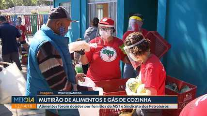 Famílias do MST doam 15 ton de alimentos a moradores de Curitiba e Araucária
