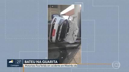 Motorista fica ferido em acidente em Ribeirão das Neves