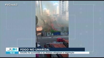 Incêndio assusta moradores do bairro Umarizal, em Belém