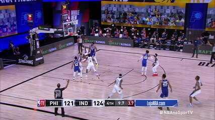 Melhores momentos de Indiana Pacers 127 x 121 Philadelphia 76ers pela NBA