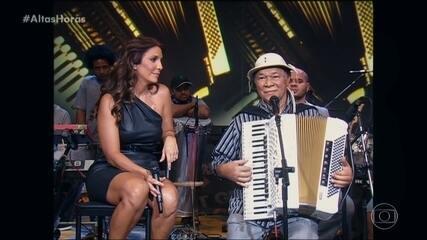 Ivete relembra quando cantou com Dominguinhos no 'Altas Horas'