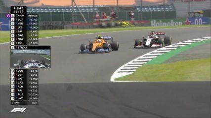 Sainz e Norris ultrapassam Grosjean no GP da Inglaterra