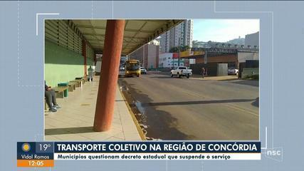 Apesar de restrição, Concórdia tem serviço de ônibus nesta segunda-feira