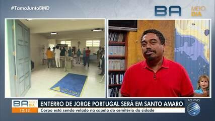 Esposa comenta perda repentina de Jorge Portugal; enterro acontece nesta terça-feira