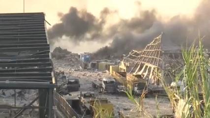 Imagens mostram coluna de fumaça após explosão no Líbano
