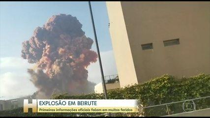 Primeiras informações oficiais falam em muitos feridos na explosão em Beirute
