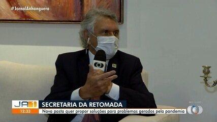 Governador sanciona lei que cria Secretaria da Retomada em Goiás