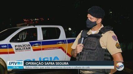 Polícia Militar realiza operação para evitar ocorrências durante a colheita do café
