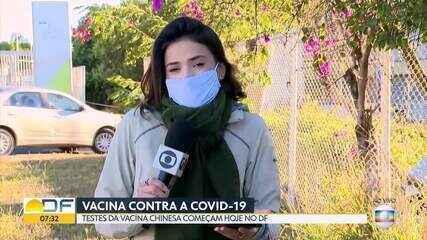 Teste da vacina contra a Covid-19 começa hoje no DF