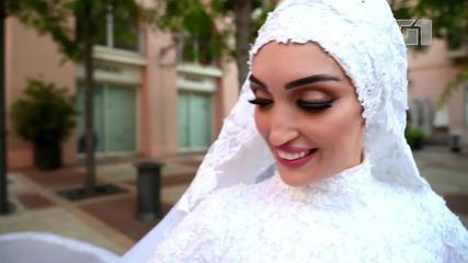 Noiva fazia ensaio fotográfico na hora da explosão em Beirute