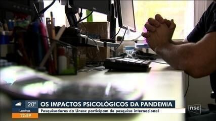Pesquisadores da Unesc participam de pesquisa internacional sobre efeitos da pandemia