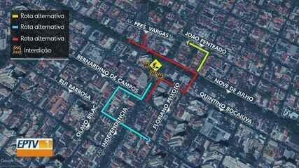 Transerp fecha trechos da Av. Presidente Vargas para construção de túnel em Ribeirão Preto
