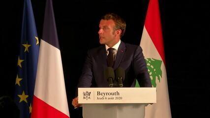 Macron em Beirute: 'Precisamos de uma investigação internacional aberta e transparente'
