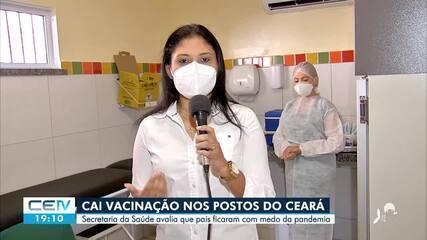 Queda na vacinação em postos de saúde do Ceará