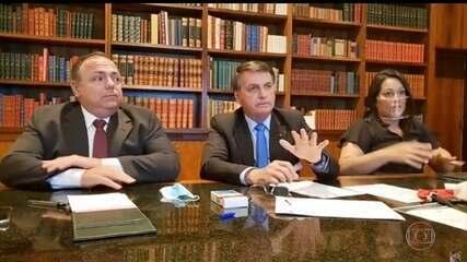 Presidente Bolsonaro comenta as quase cem mil mortes de brasileiros