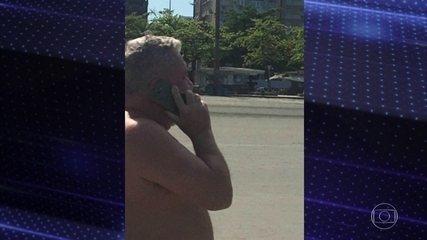 Desembargador Eduardo Siqueira volta a circular sem máscara na orla de Santos