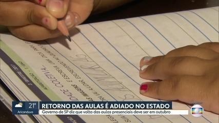 Governo do estado adia retorno das aulas presenciais para outubro