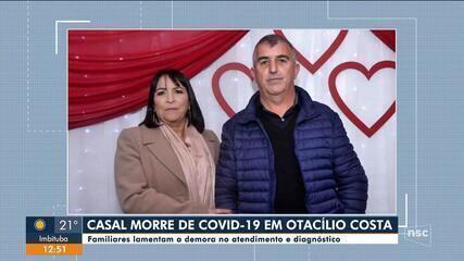 Casal de SC morre de Covid-19 com 15 dias de diferença