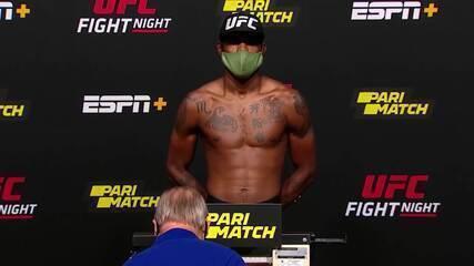 """Confira imagens da pesagem do """"UFC: Lewis x Oleynik"""""""