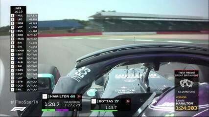 Hamilton e Bottas brigam pelos melhores tempos do treino