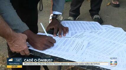 Moradores de Bento Ribeiro fazem abaixo-assinado pela volta de linhas de ônibus