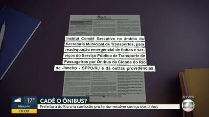 Prefeitura do Rio deve criar comissão para tentar resolver sumiço de linhas de ônibus